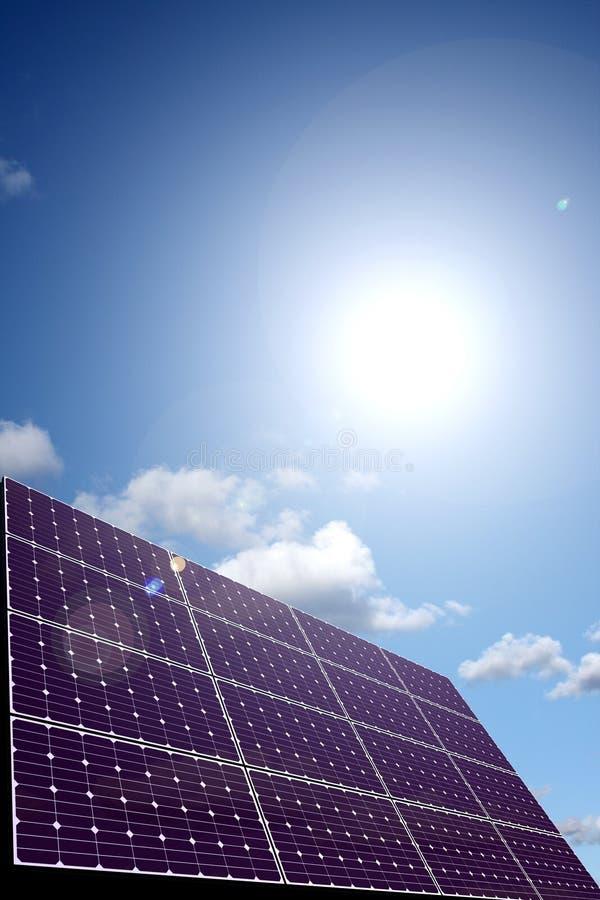 El panel de energía solar en luz del sol libre illustration