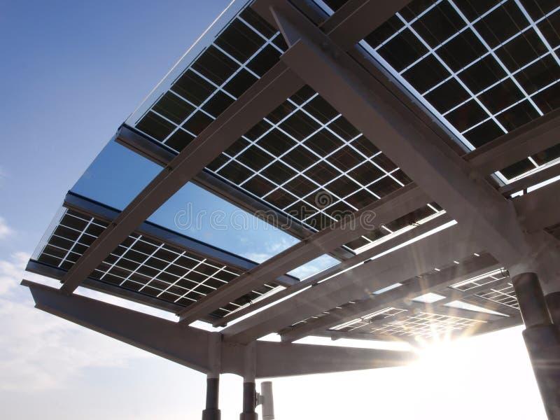 El panel de la energía solar imagen de archivo