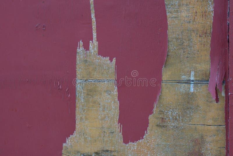 El panel de madera resistido viejo con textura de la pintura de la peladura imágenes de archivo libres de regalías