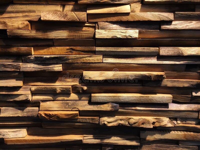El panel de pared de madera 3D fotografía de archivo libre de regalías