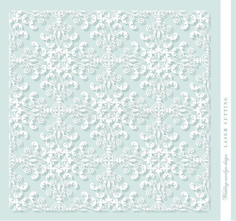 El panel decorativo cortado laser damasco Para imprimir, grabado, cortando el papel, madera, metal libre illustration