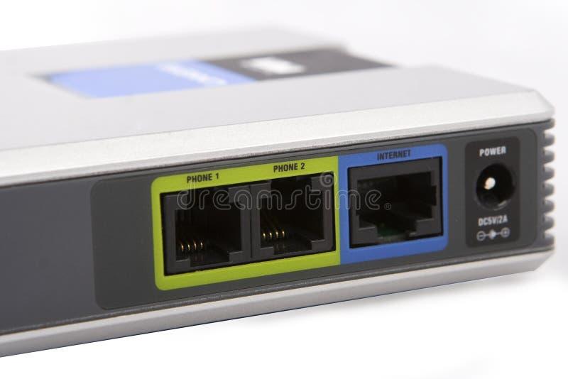 El panel del adaptador de VoIP imagenes de archivo