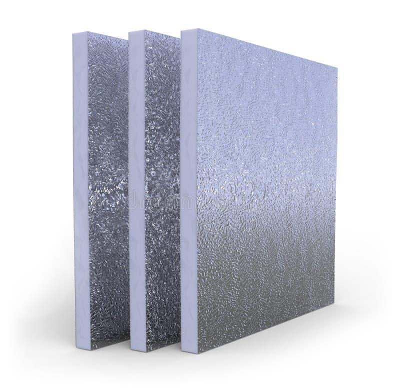 El panel del aislamiento térmico stock de ilustración