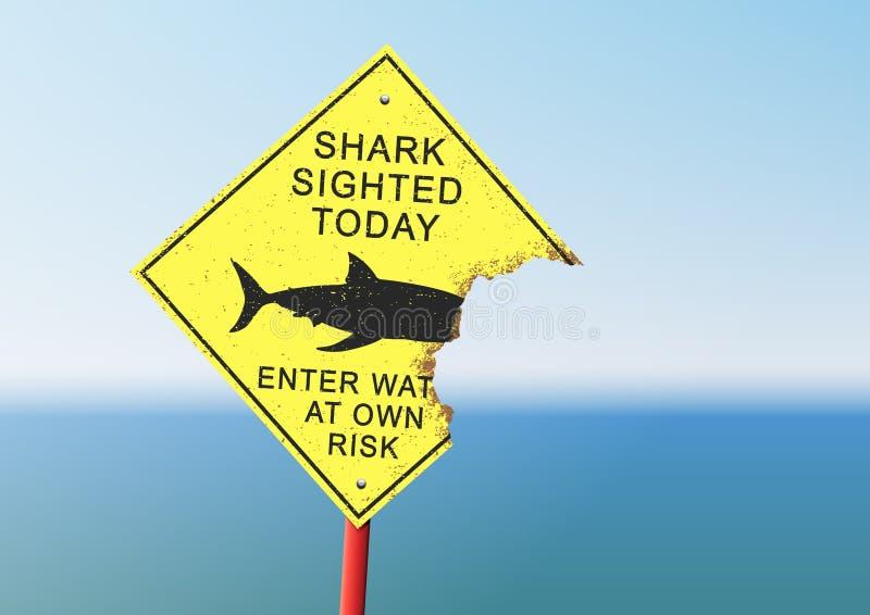 El panel del ataque del tiburón ilustración del vector