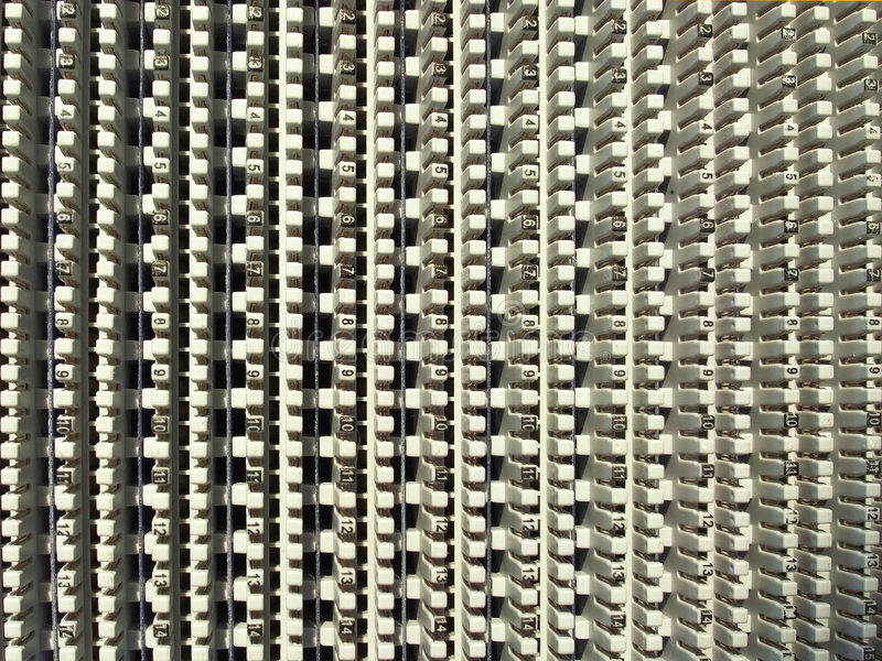 El panel del cable de teléfono fotos de archivo libres de regalías