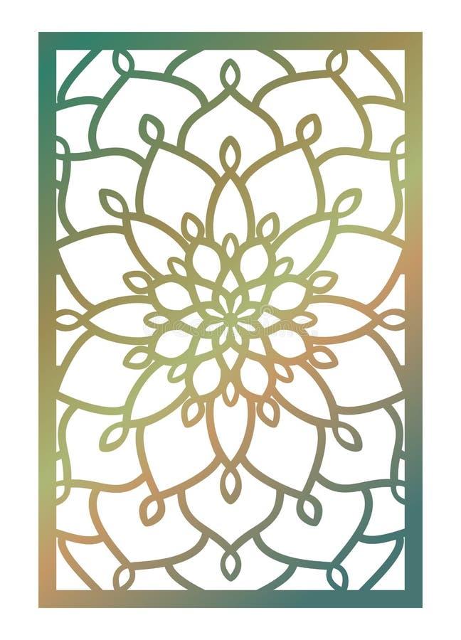 El panel del corte del laser del vector Plantilla abstracta del modelo para decorativo libre illustration