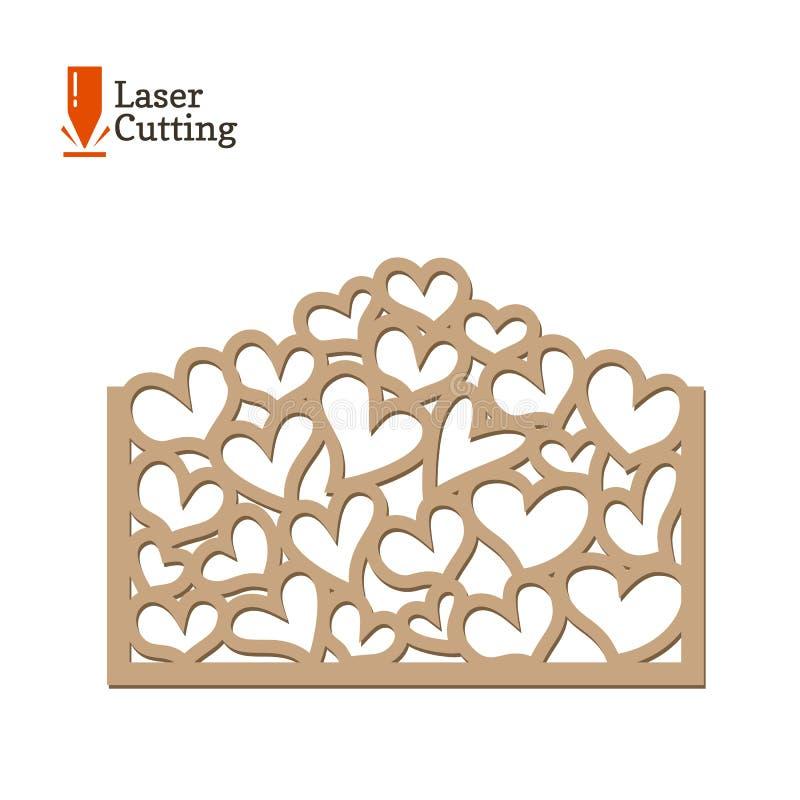 El Panel Del Corte Del Laser Vector La Plantilla Del Marco Con Los ...