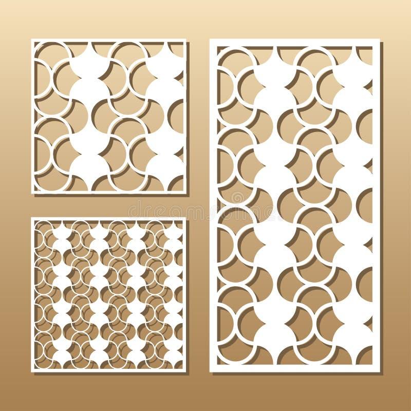 El panel del vector del corte del laser libre illustration