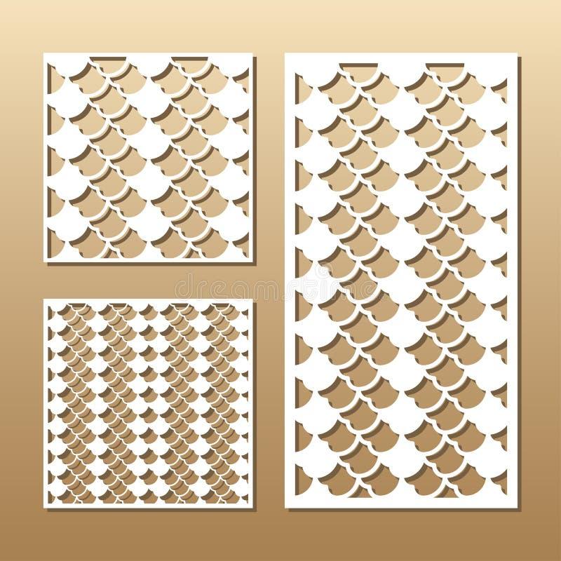El panel del vector del corte del laser stock de ilustración