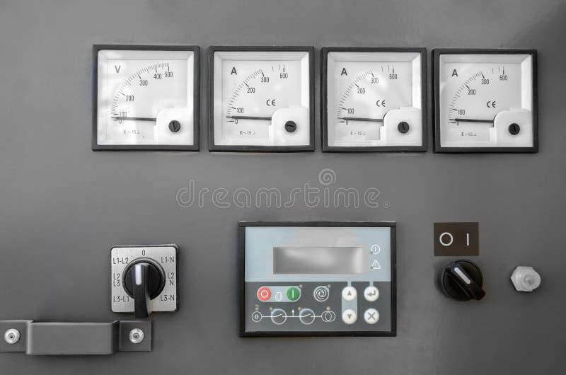 El panel eléctrico fotografía de archivo libre de regalías
