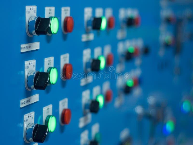 El panel eléctrico del interruptor imagen de archivo