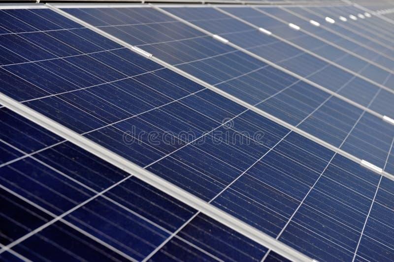 El panel fotovoltaico solar foto de archivo