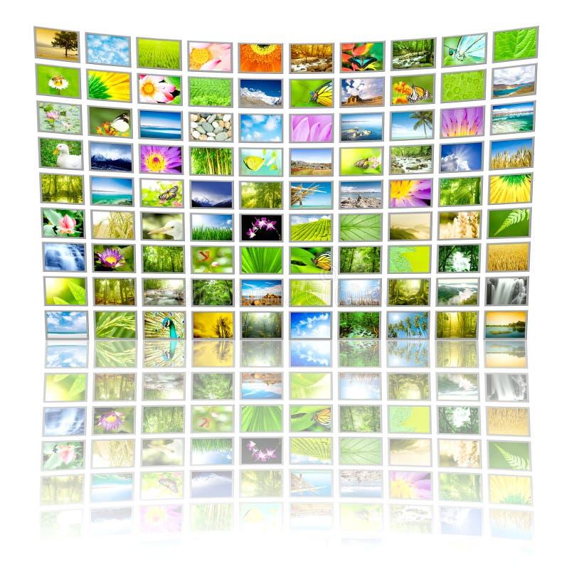 El panel grande de la TV fotos de archivo