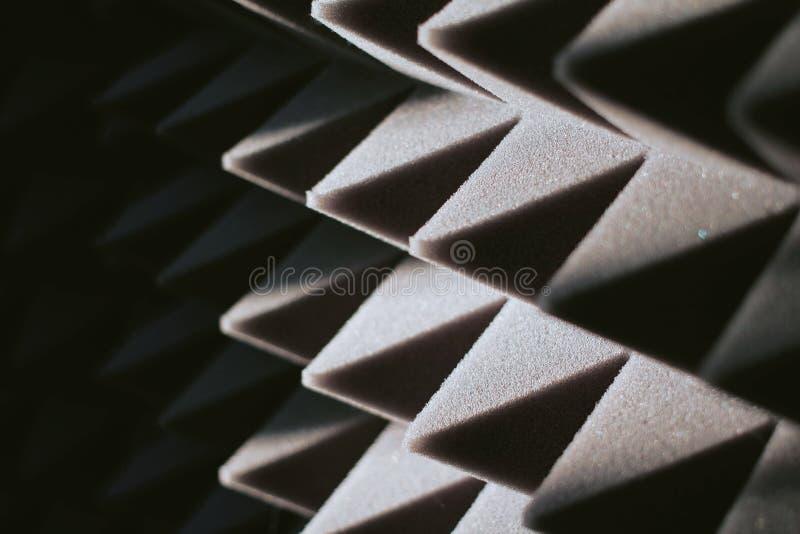 El panel insonoro de la espuma de poliuretano foto de archivo libre de regalías