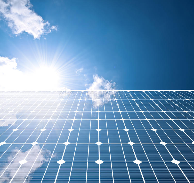 El panel solar