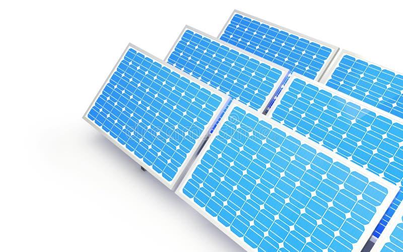 El panel solar stock de ilustración