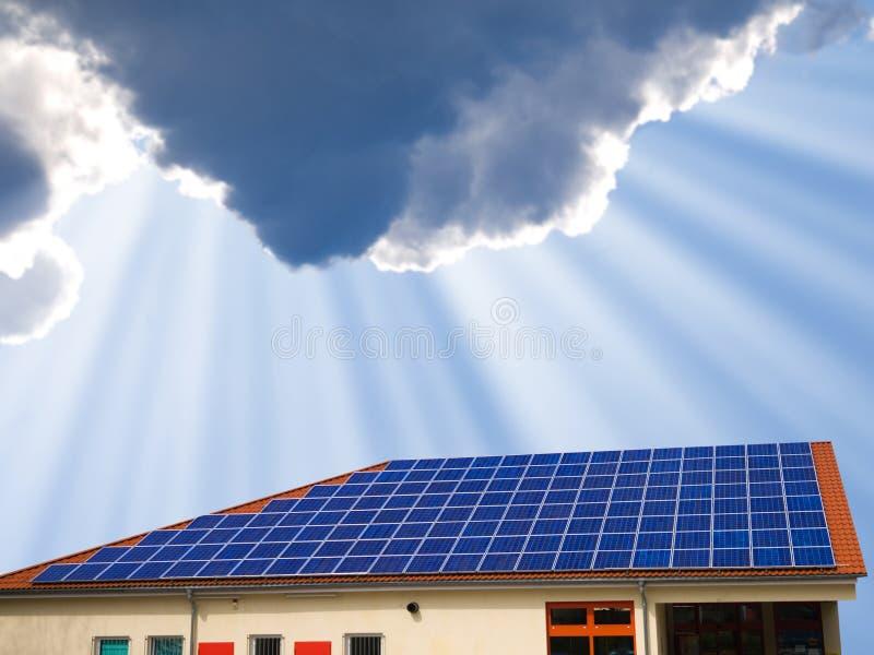 El panel solar fotografía de archivo