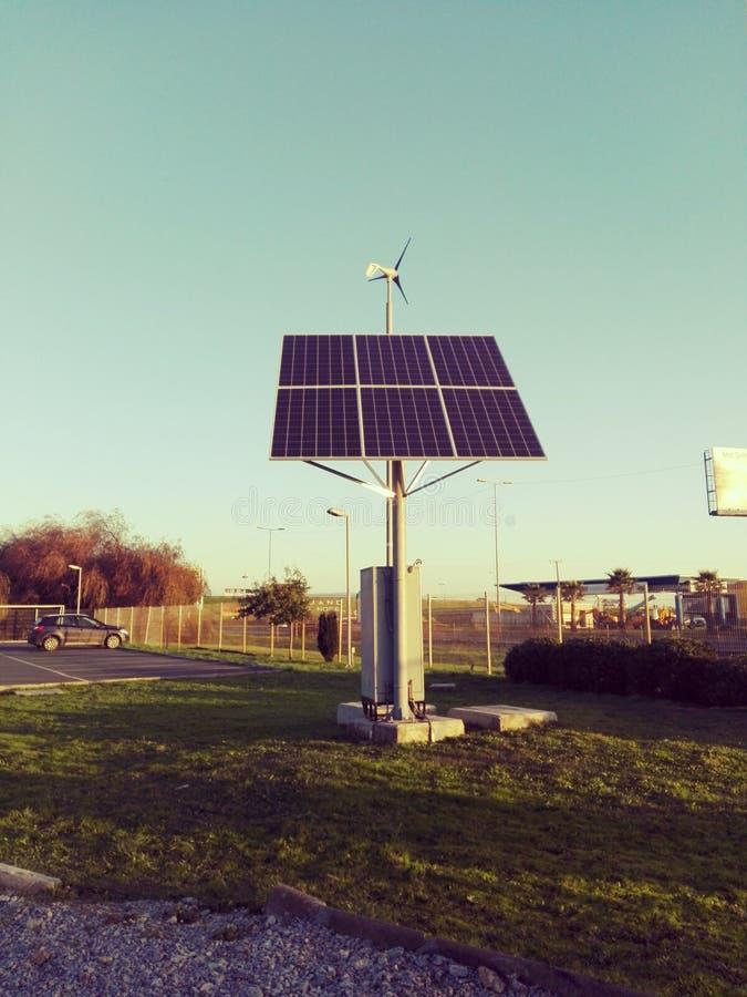 El panel solar imagenes de archivo