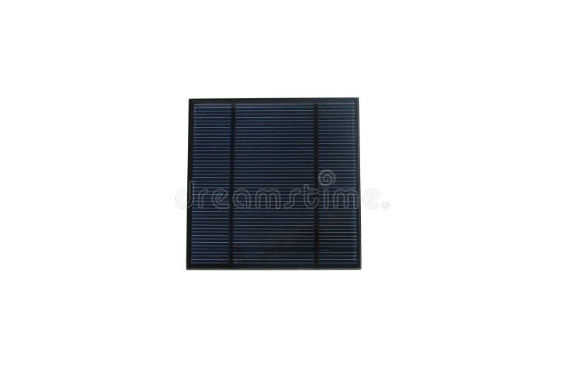 El panel solar, aislado en blanco fotografía de archivo libre de regalías