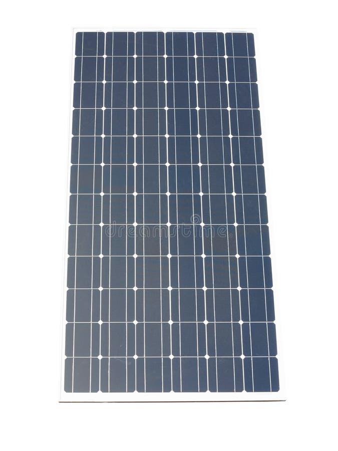El panel solar azul aislado sobre blanco foto de archivo libre de regalías