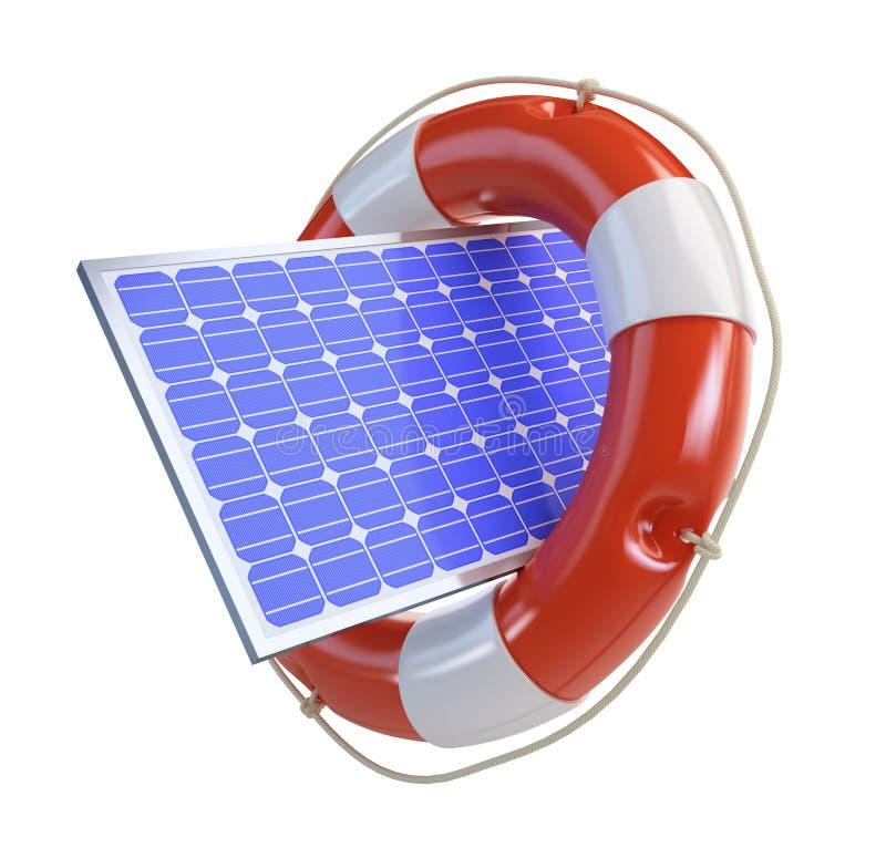 El panel solar de la ayuda ilustración del vector