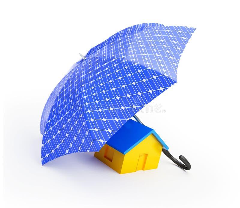 El panel solar del paraguas imágenes de archivo libres de regalías