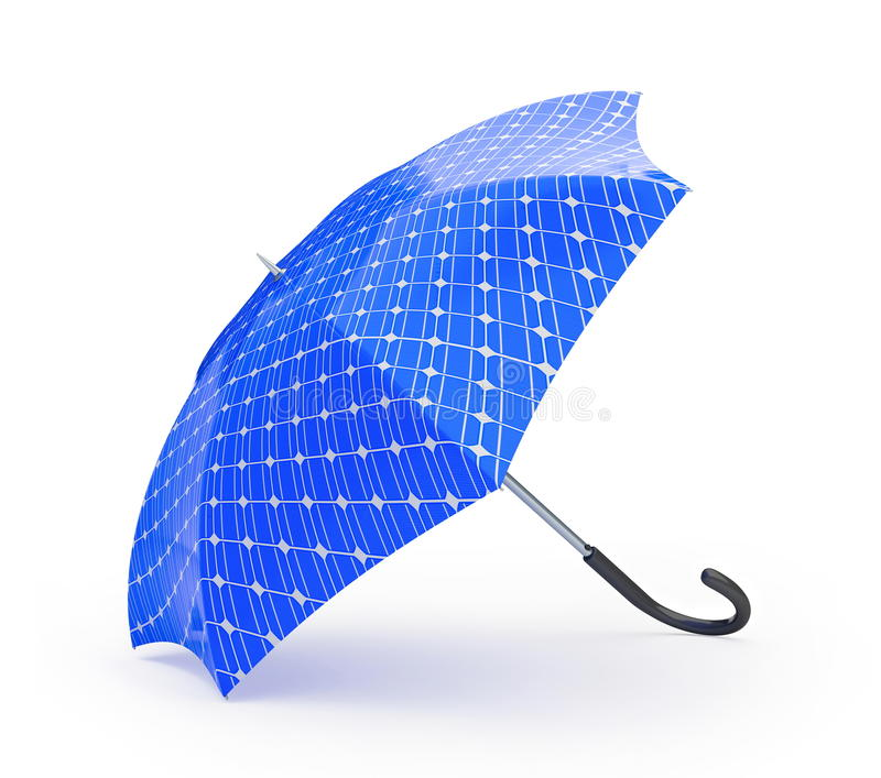 El panel solar del paraguas libre illustration