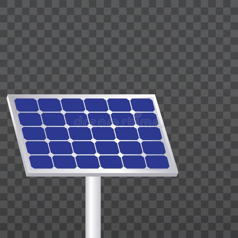 El panel solar, el panel solar del vector, vector stock de ilustración