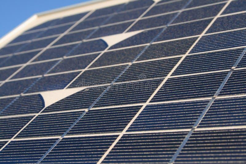 El panel solar detallado foto de archivo libre de regalías