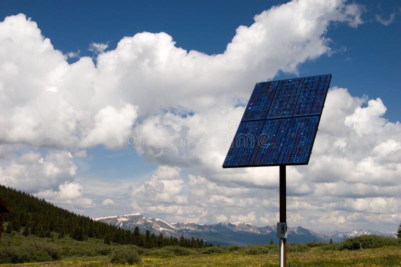 El panel solar en el cielo II foto de archivo libre de regalías