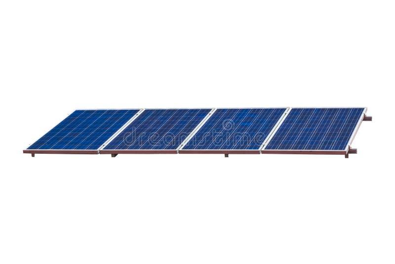 El panel solar en el fondo blanco fotografía de archivo libre de regalías