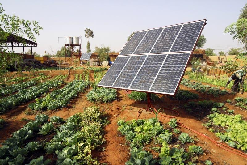 El panel solar fotovoltaico fotografía de archivo libre de regalías