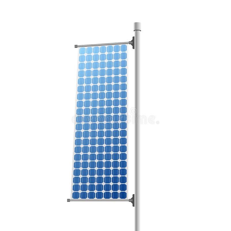 El panel solar - fuente de energía renovable stock de ilustración