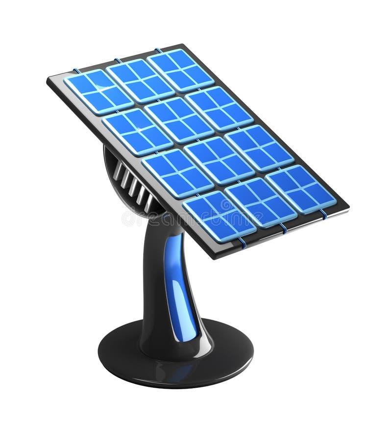 El panel solar futurista 3d libre illustration