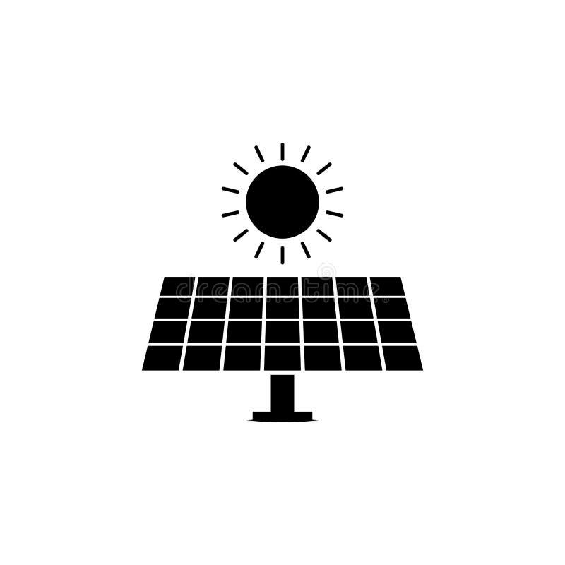 El panel solar, icono del sol en el fondo blanco Puede ser utilizado para la web, logotipo, app móvil, UI UX libre illustration