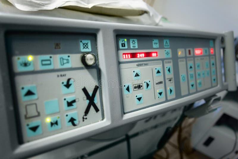 El panel ultrasónico del lithotripter imagen de archivo libre de regalías