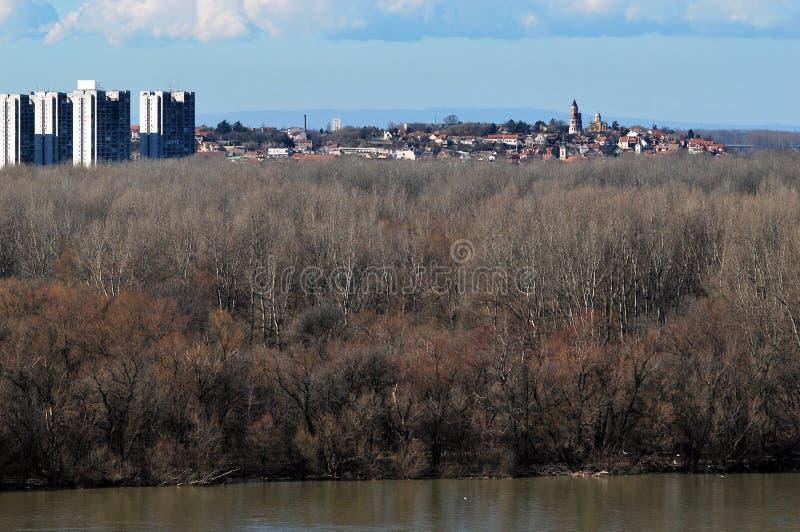 El panorama de Belgrado imagen de archivo libre de regalías