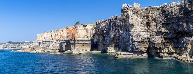 El panorama de Boca hace el infierno, Cascais, Portugal imagen de archivo libre de regalías