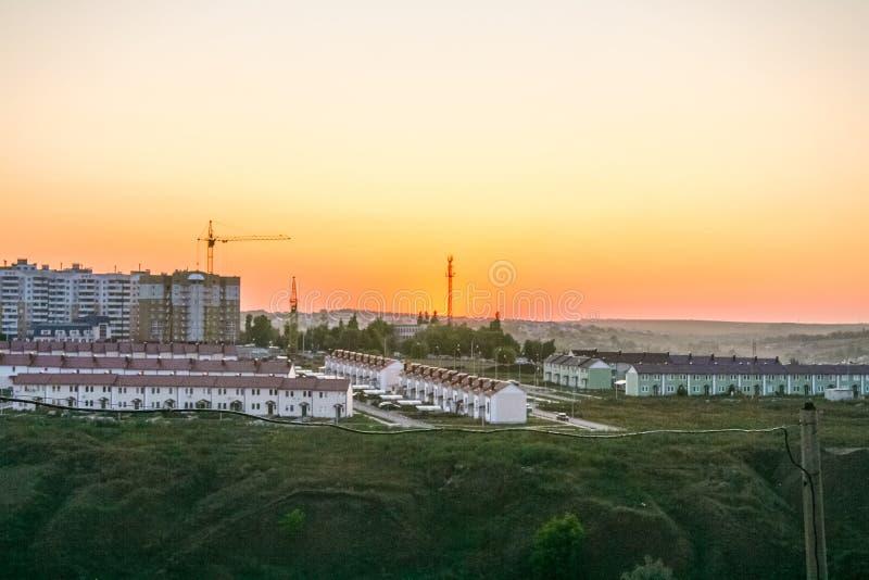 El panorama de la ciudad de Belgorod imagen de archivo libre de regalías