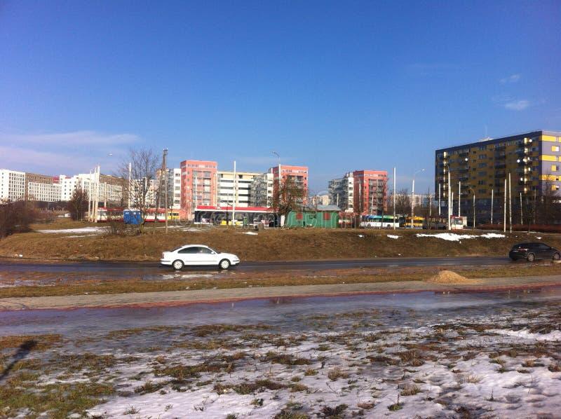 El panorama de la ciudad de Vilnius fotos de archivo