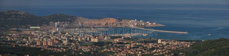 El panorama de Trieste fotos de archivo libres de regalías