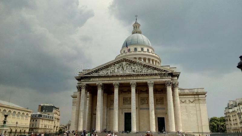 El panteón en la ciudad de París, Francia fotos de archivo