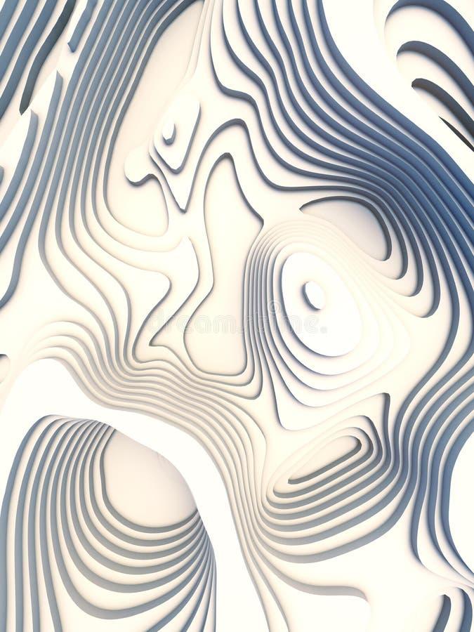 El papel abstracto cortó el diseño del fondo del arte para la plantilla del sitio web Concepto del mapa de la topografía represen stock de ilustración