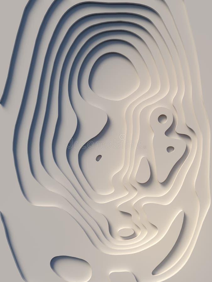 El papel abstracto cortó el diseño del fondo del arte para la plantilla del sitio web Concepto del mapa de la topografía represen ilustración del vector