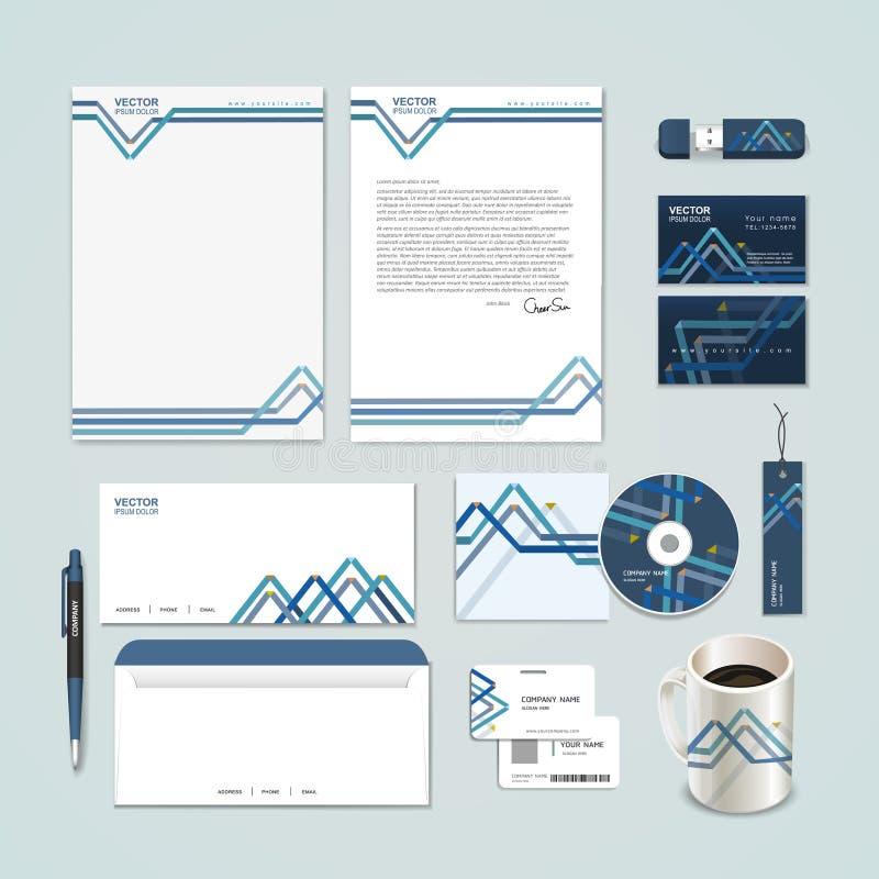 el papel abstracto dobló el fondo del modelo para el sistema de la identidad corporativa stock de ilustración