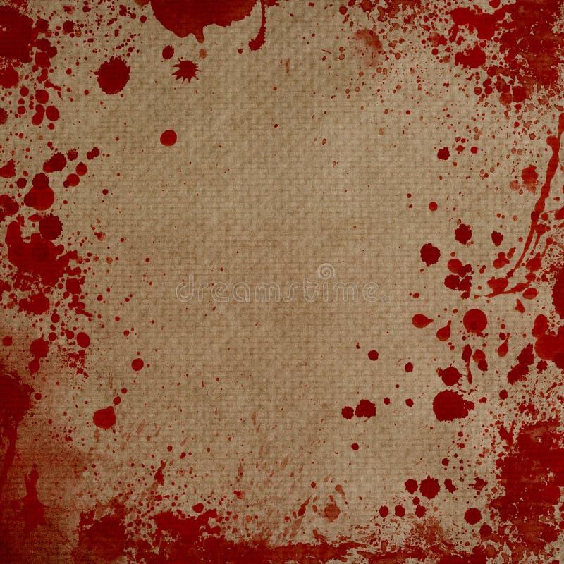 El Papel Con Sangre Salpica El Marco Foto de archivo - Imagen de ...