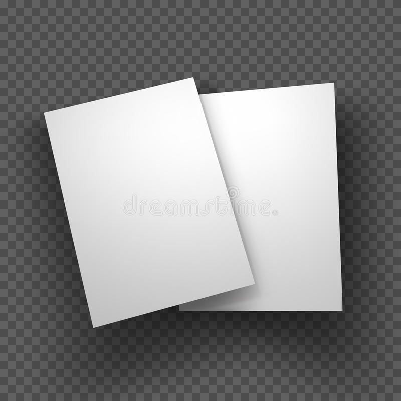 El papel cubre la maqueta en fondo transparente Ilustración del vector libre illustration