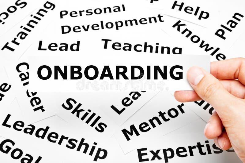 El papel de Onboarding redacta concepto foto de archivo libre de regalías