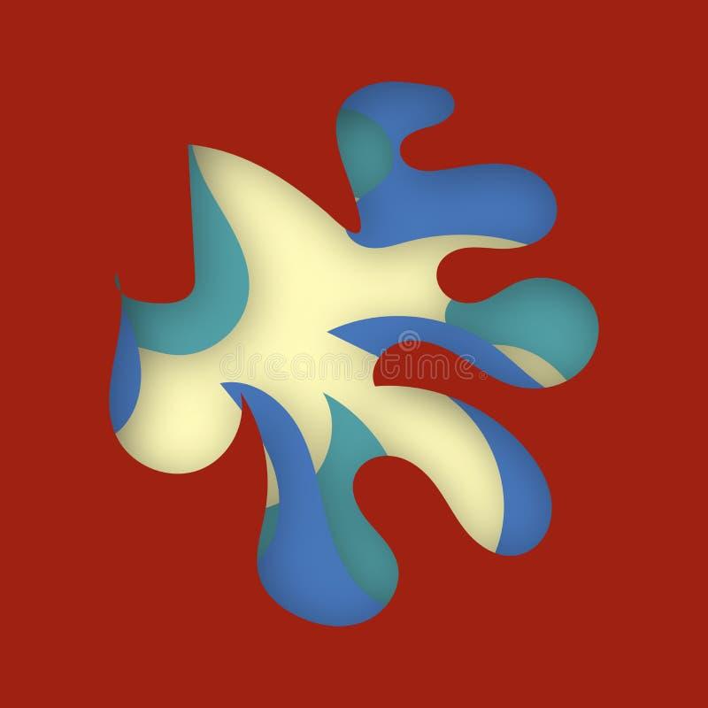 El papel multi de la textura 3D del color de las capas cortó capas en pendiente El papel abstracto cortó el diseño del fondo del  stock de ilustración