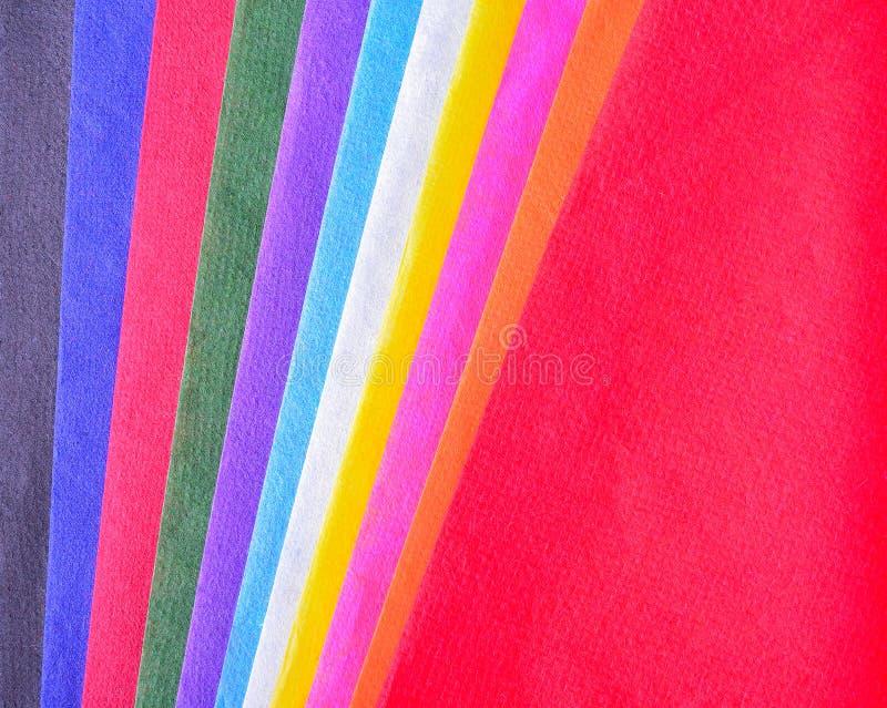 El papel multicolor de la mora con texturas se utiliza como backgrou fotos de archivo libres de regalías